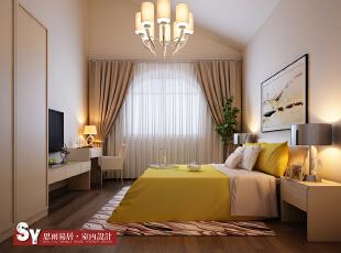 卧室,110平,现代,两居,卧室,