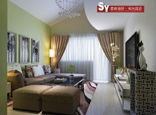客厅,110平,现代,两居,客厅,