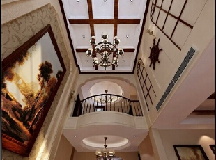 室内在着繁缛雕刻的手艺装饰和陈设上表现出一种恒久的艺术气息。然后,再利用色彩华丽且用暖色调加以协调,让变形的直线与曲线相互作用。,200平,21万,中式,跃层,客厅,