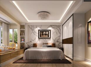简洁 时尚的家居主路线——卧室,100平,4万,现代,两居,卧室,