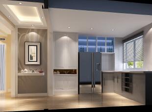 简洁 时尚的家居主路线——厨房,100平,4万,现代,两居,厨房,