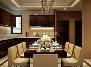 中森林语美墅别墅样板间装修设计效果图 餐厅,220平,10万,混搭,别墅,餐厅,