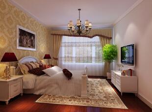 主观(风水)大气的欧式风格——卧室,100平,5万,欧式,两居,卧室,