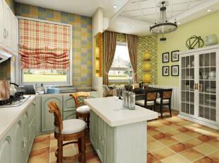 开放式厨房与餐厅,145平,10万,现代,两居,