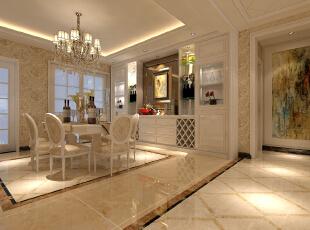,168平,30万,欧式,四居,餐厅,白色,