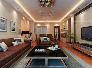 ,120平,6万,现代,三居,客厅,白色,