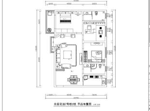 郑州金盾花园三室两厅140平方新中式风格装修——平面布局方案图,140平,9万,中式,三居,