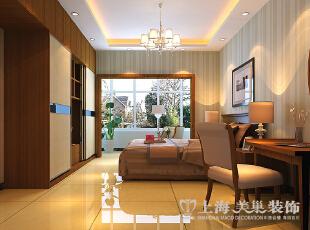 郑州金盾花园三室两厅140平方新中式风格装修——主卧效果图,140平,9万,中式,三居,