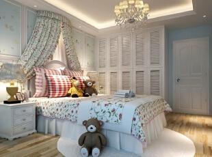 ,120平,15万,现代,三居,卧室,白色,