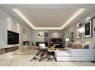 ,120平,15万,现代,三居,客厅,白色,