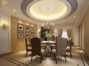 ,350平,200万,别墅,欧式,餐厅,白色,