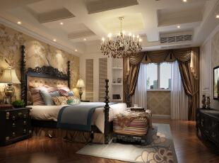 ,350平,200万,别墅,欧式,卧室,白色,