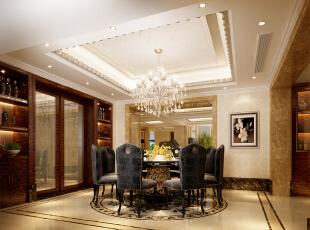 ,800平,600万,新古典,别墅,餐厅,白色,
