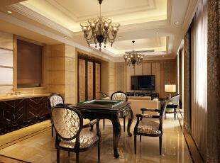 ,800平,600万,新古典,别墅,客厅,黄色,