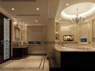 ,800平,600万,新古典,别墅,卫生间,黑白,