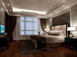 ,850平,680万,新古典,别墅,卧室,白色,