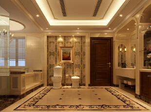 ,850平,680万,新古典,别墅,卫生间,白色,