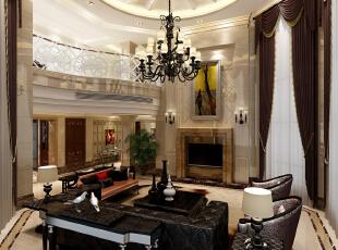 ,850平,680万,新古典,别墅,客厅,白色,