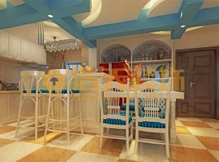 地中海的自然色彩丰富goodfeel,并且由于光照足,所有颜色的饱和度也很高,体现出色彩最绚烂的一面。地中海的颜色特点就是,无须造作,本色呈现。地中海风格也按照自然地域出现了三种典型的颜色搭配。,150平,15万,四居,餐厅,地中海,蓝色,