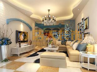 地中海的自然色彩丰富goodfeel,并且由于光照足,所有颜色的饱和度也很高,体现出色彩最绚烂的一面。地中海的颜色特点就是,无须造作,本色呈现。地中海风格也按照自然地域出现了三种典型的颜色搭配。,150平,15万,四居,客厅,地中海,蓝色,白色,