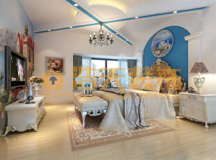 地中海的自然色彩丰富goodfeel,并且由于光照足,所有颜色的饱和度也很高,体现出色彩最绚烂的一面。地中海的颜色特点就是,无须造作,本色呈现。地中海风格也按照自然地域出现了三种典型的颜色搭配。,150平,15万,四居,卧室,地中海,蓝色,白色,