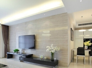 客厅背景墙,138平,7万,简约,三居,客厅,白色,黑白,现代,