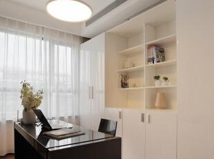 书房,138平,7万,简约,三居,白色,书房,现代,
