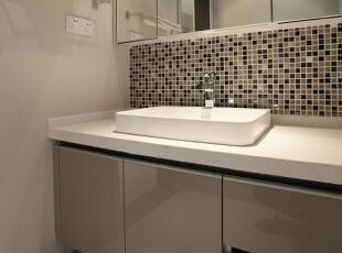 洗手台,138平,7万,简约,三居,卫生间,现代,白色,