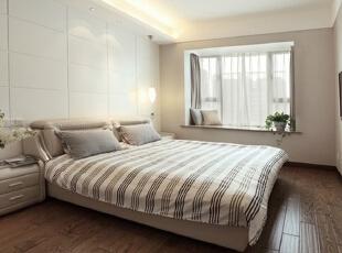 卧室,138平,7万,简约,三居,卧室,现代,白色,