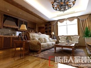 ,115平,20万,欧式,三居,客厅,原木色,