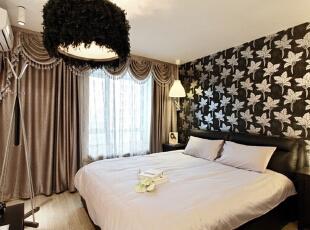 ,60平,6万,现代,两居,卧室,黑白,