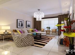 颜色上大胆创新,独特的光泽感使家具倍感时尚,,现代,白色,石家庄装修,实创装饰,客厅,简约,