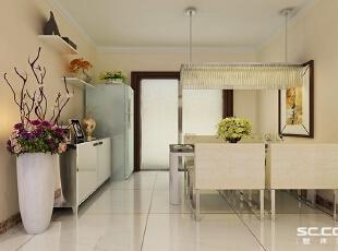 具有舒适与美观,现代,两居,简约,白色,餐厅,石家庄装修,实创装饰,