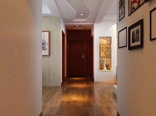 信达西山银杏97平方新中式装修效果图,97平,6.5万,两居,玄关,原木色,中式,