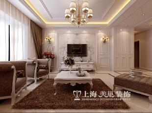 郑州中信嘉苑160平四室两厅简欧风格装修效果图--电视墙,160平,13万,欧式,四居,