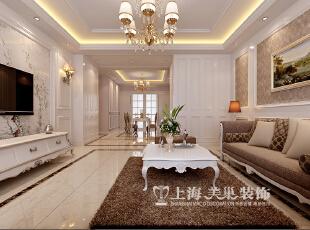 中信嘉苑160平四室两厅简欧风格装修效果图--客餐厅,160平,13万,欧式,四居,