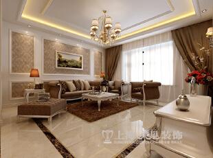 中信嘉苑160平四室两厅简欧风格装修效果图--沙发墙,160平,13万,欧式,四居,