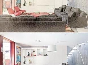 画出上海别墅装修中的唯美调调。。。,500平,90万,现代,一居,