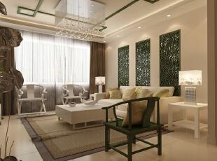 客厅,140平,10万,中式,两居,客厅,