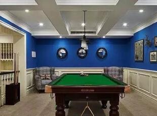 地下室的台球房,朋友们可以在这一起玩,500平,220万,现代,一居,