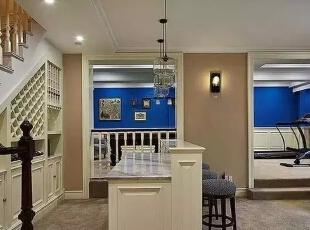地下室的吧台,锻炼完之后可以喝酒,500平,220万,现代,一居,