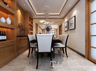 豫武花园4室2厅200平客厅装修样板间案例,200平,25万,中式,四居,餐厅,