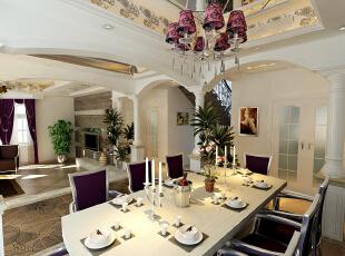 简欧风格就是简化了的欧式装修风格。也是目前住宅别墅装修最流行的风格。简欧风格更多的表现为实用性和多元化。简欧家具包括床、电视柜、书柜、衣柜、橱柜等等都与众不同,营造出日常居家不同的感觉。,130.0平,5.0万,欧式,三居,餐厅,