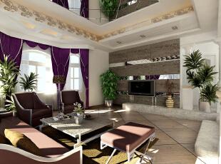 简欧风格就是简化了的欧式装修风格。也是目前住宅别墅装修最流行的风格。简欧风格更多的表现为实用性和多元化。简欧家具包括床、电视柜、书柜、衣柜、橱柜等等都与众不同,营造出日常居家不同的感觉。,135平,4.8万,欧式,三居,客厅,
