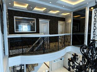 简欧风格就是简化了的欧式装修风格。也是目前住宅别墅装修最流行的风格。简欧风格更多的表现为实用性和多元化。简欧家具包括床、电视柜、书柜、衣柜、橱柜等等都与众不同,营造出日常居家不同的感觉。,320平,7万,欧式,复式,黑白,