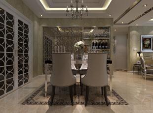 餐厅 的设计和别的地方比要别致的多。这也是人们的向往的浪漫主义。,139平,4万,美式,瑞城三期装修,