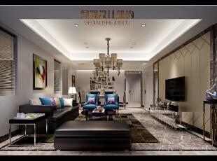 ,130平,40万,现代,三居,客厅,