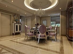 餐厅 的设计和别的地方比较 显得更有特色 显得高端大气,276平,30万,欧式,四居,石家庄新源燕府,