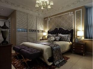 卧室的衣柜 用的全屋订制内嵌式的 使用 方便 节约空间,276平,30万,欧式,四居,新源燕府装修,