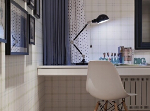 130平现代风格大气优雅之家——小书桌,130平,10万,现代,三居,